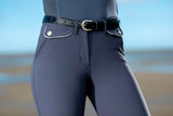 Navy Ladies Breeches with Silicone Knee