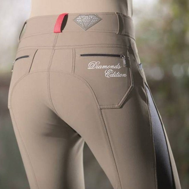 Beige Breeches with Knee Patch