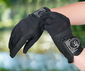Riding Gloves with Crystals