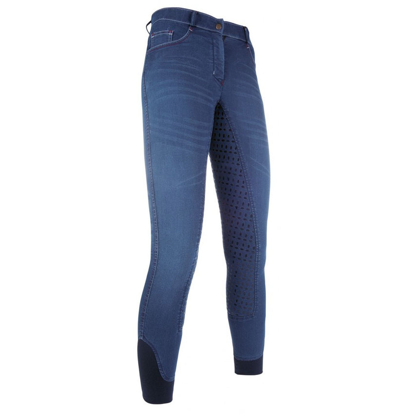 Denim Breeches with Silicone Full Seat