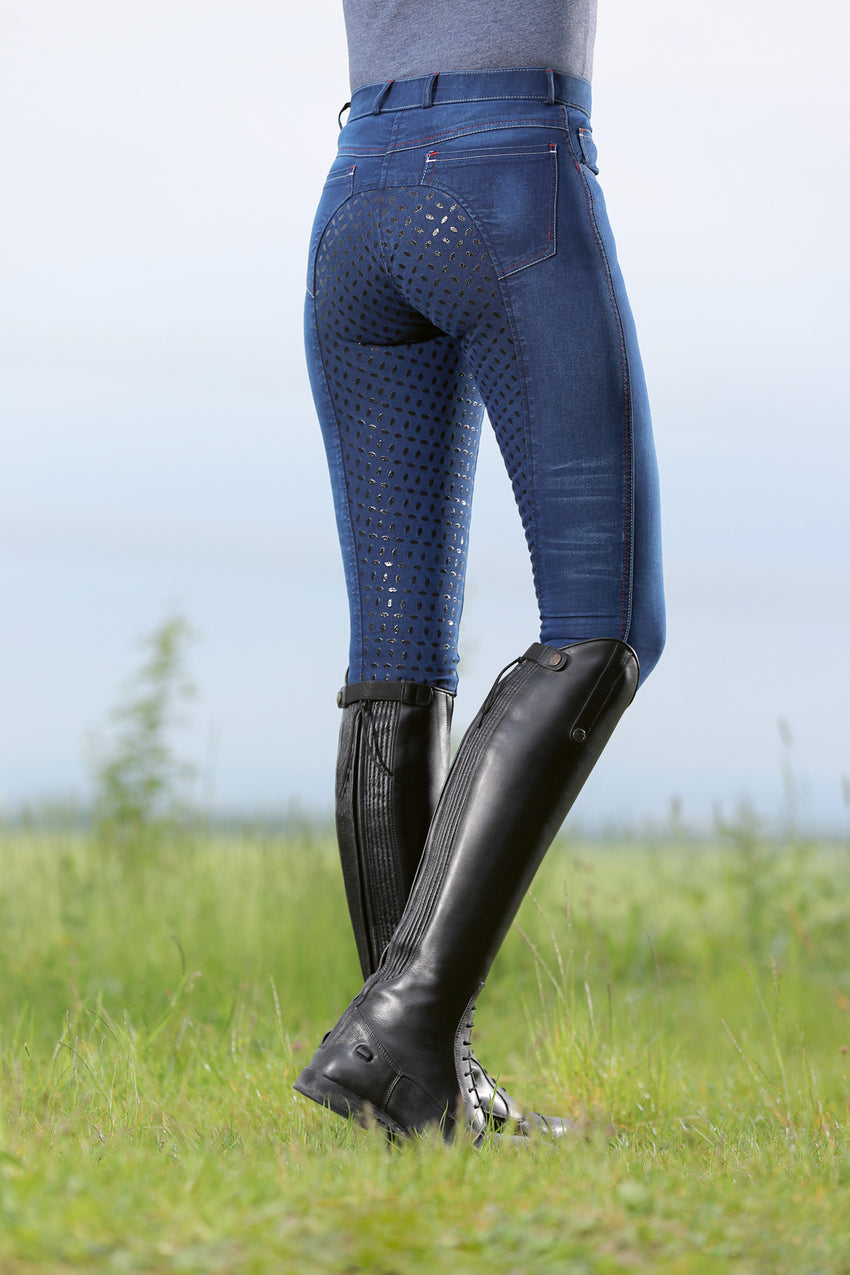 Summer Denim Breeches with Full seat