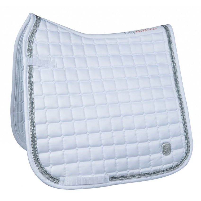White Dressage Saddle Blanket