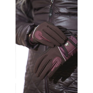 brown riding gloves
