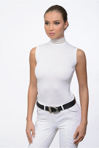 Sleeveless White Show Shirt
