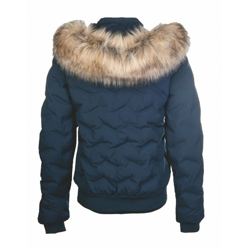 Riding Jacket with Faux Fur Hood