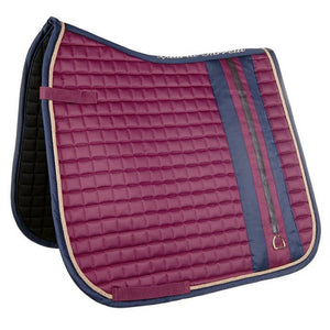 Bordeaux and navy saddle blanket