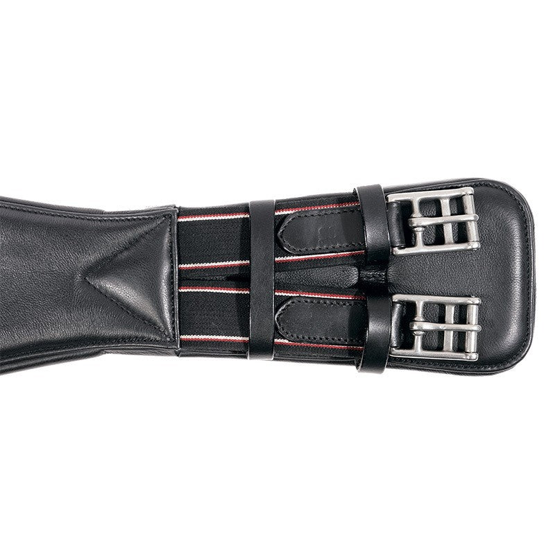 Leather Dressage Girth with Elastic