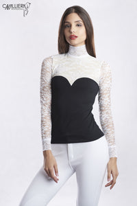 Luxurious Lace Long Sleeve Show Shirt