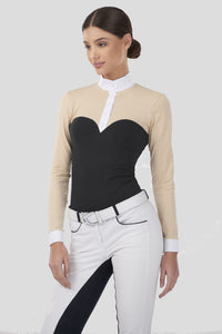 Long Sleeve Bustier Show Shirt