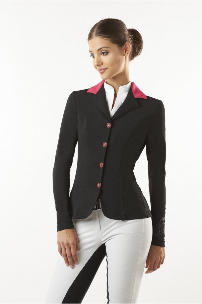 Ladies Competition Jacket with Pink Collar