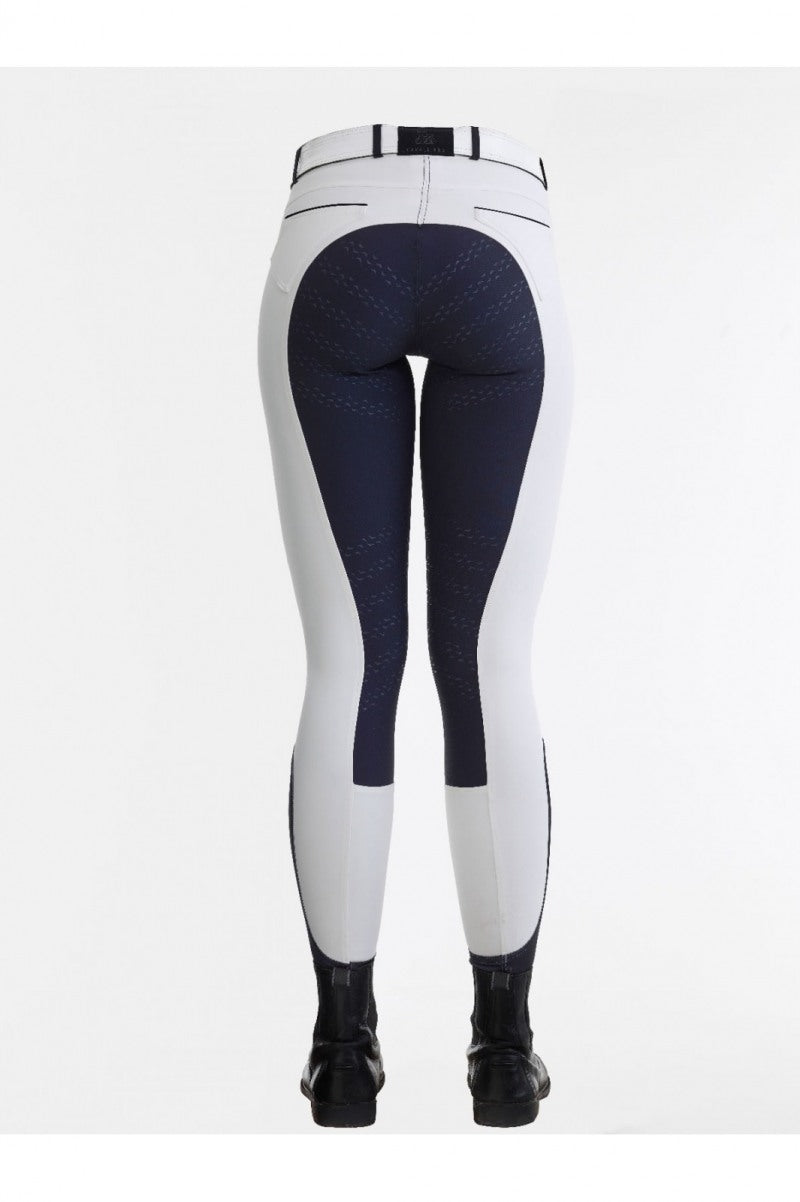 Contrasting coloured white breeches