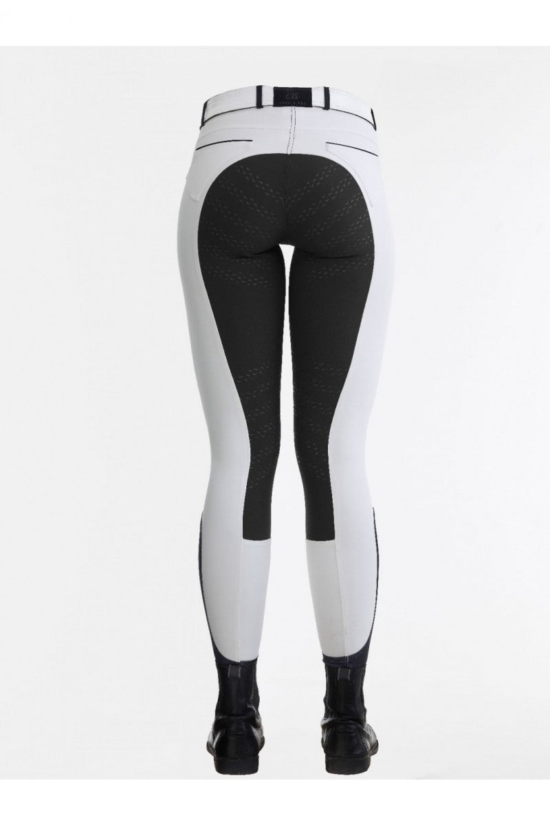 White breeches with coloured seat