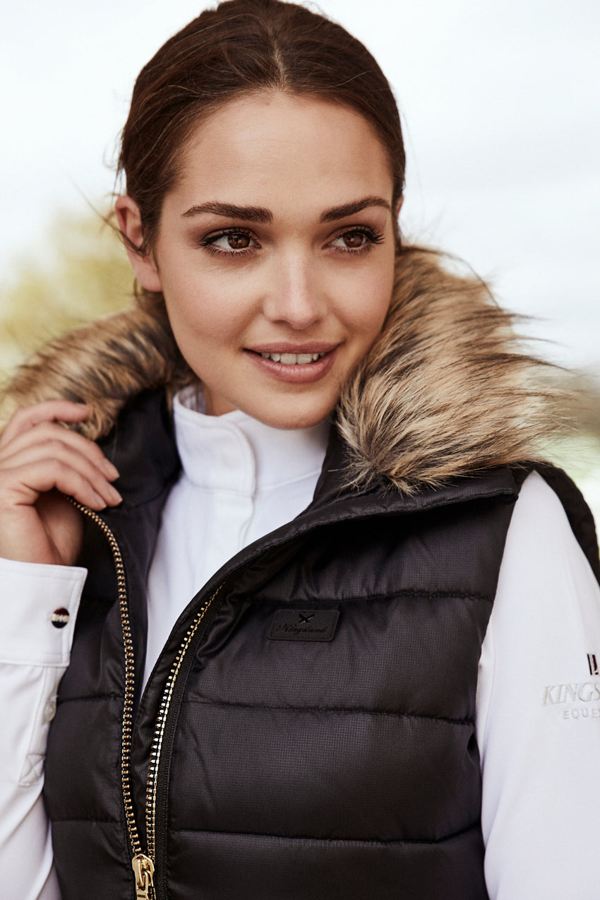Kingsland Body Warmer with Faux Fur