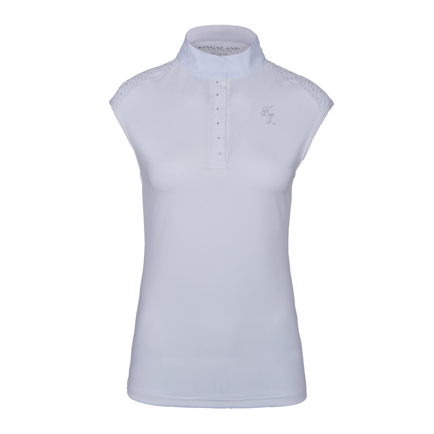 White Sleeveless Dressage Shirt