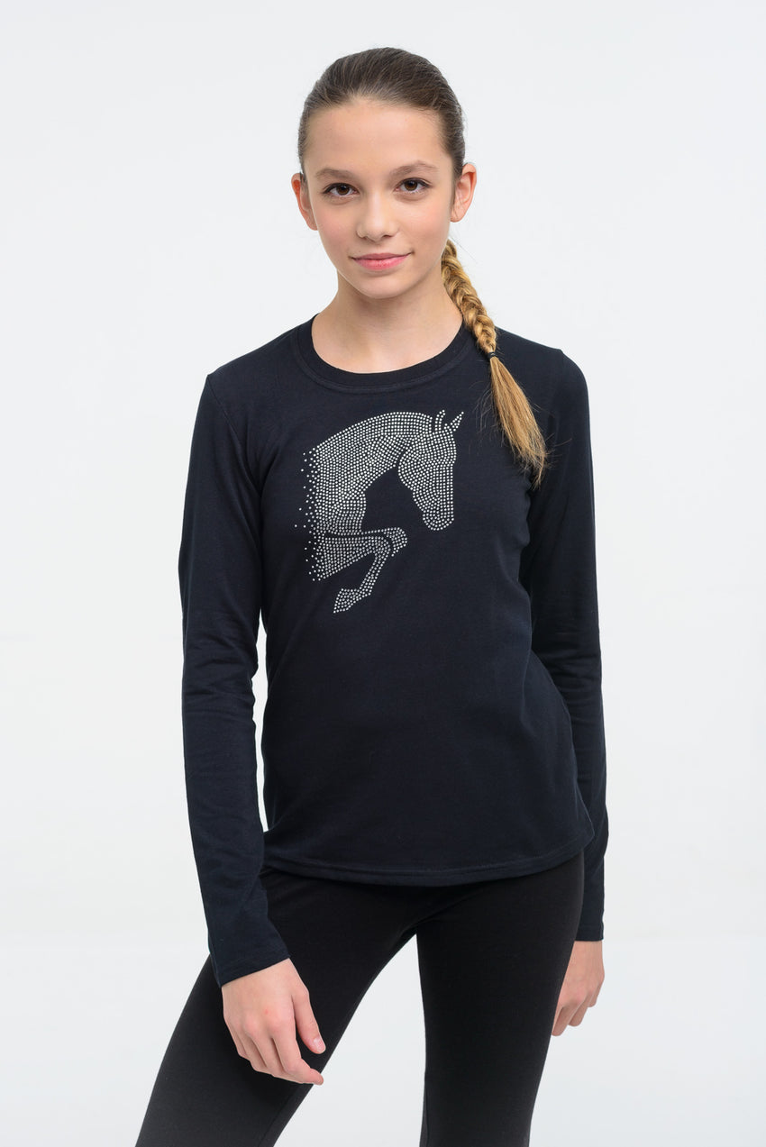 Girls Long Sleeve Riding Top