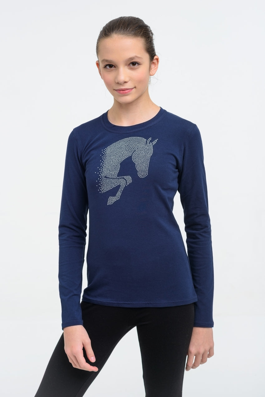 Girls Sparkly Horse Top