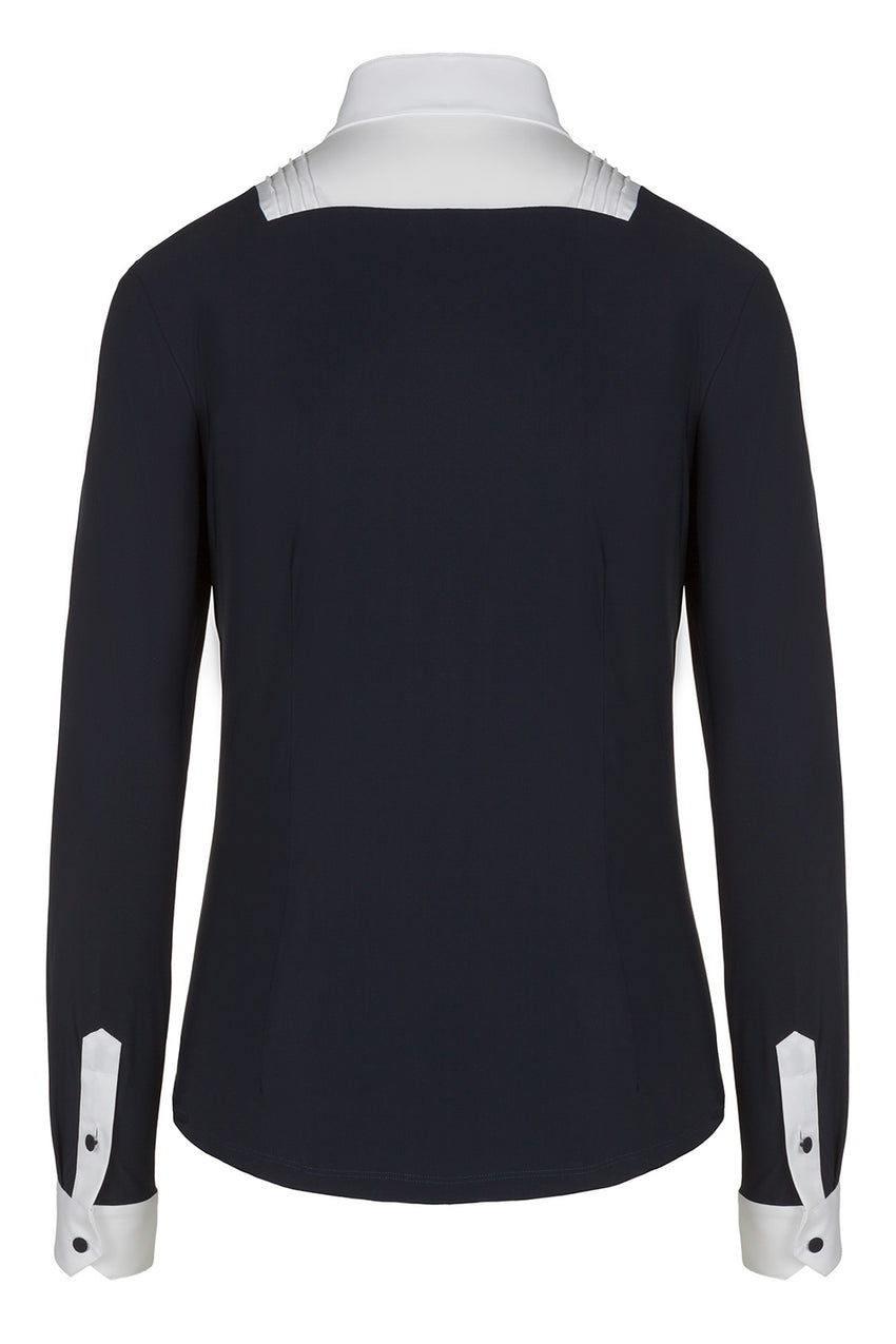 Cavalleria Toscana Competition Shirt Long Sleeve Navy
