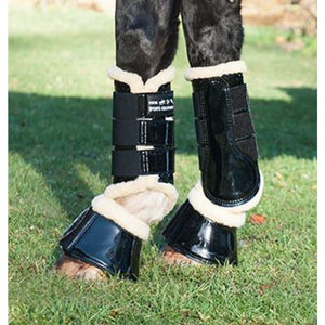 HKM Patent Brushing Boots Comfort
