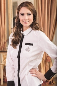Competition Blouse Silver Crown