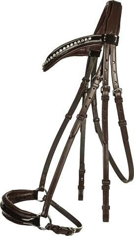 Brown drop noseband bridle