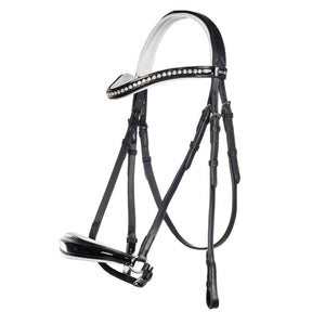 Drop Noseband bridle with white padding