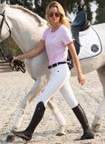 Silicone Seat White Breeches