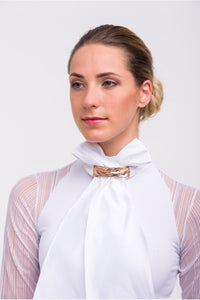 Dressage Stock Tie with Rose Gold