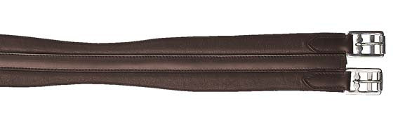 Leather Girth with Elasticated Inserts