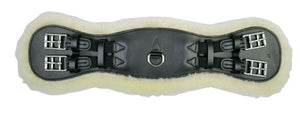HKM Leather Girth with Removable Lambs Wool