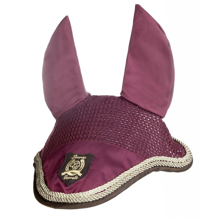Burgundy Ear Bonnet