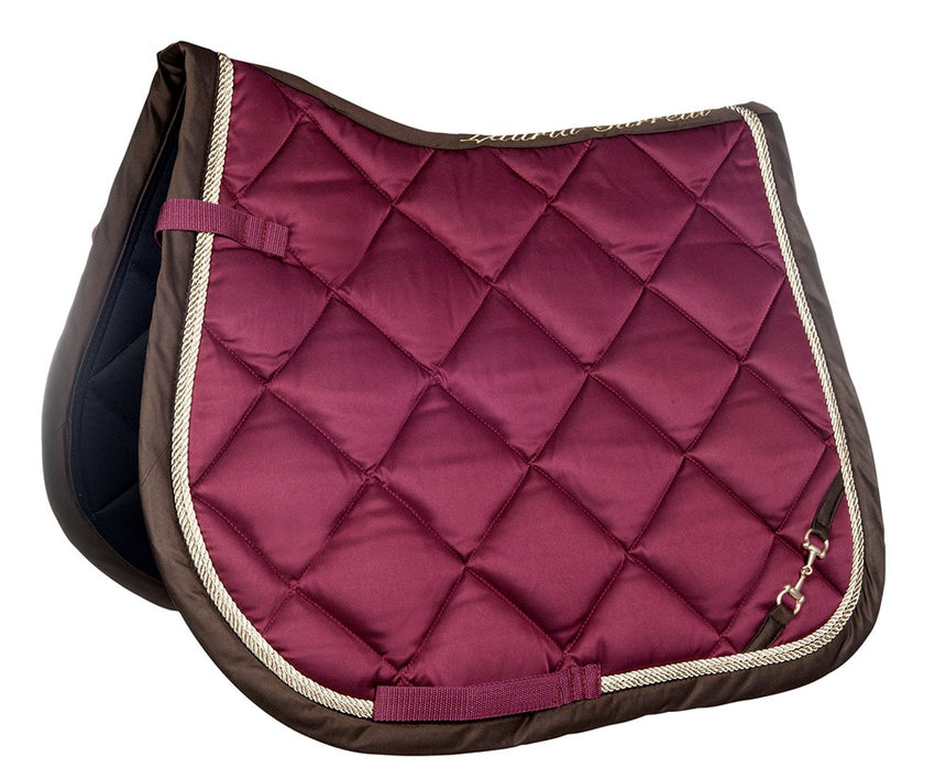 Burgundy Saddle Blanket