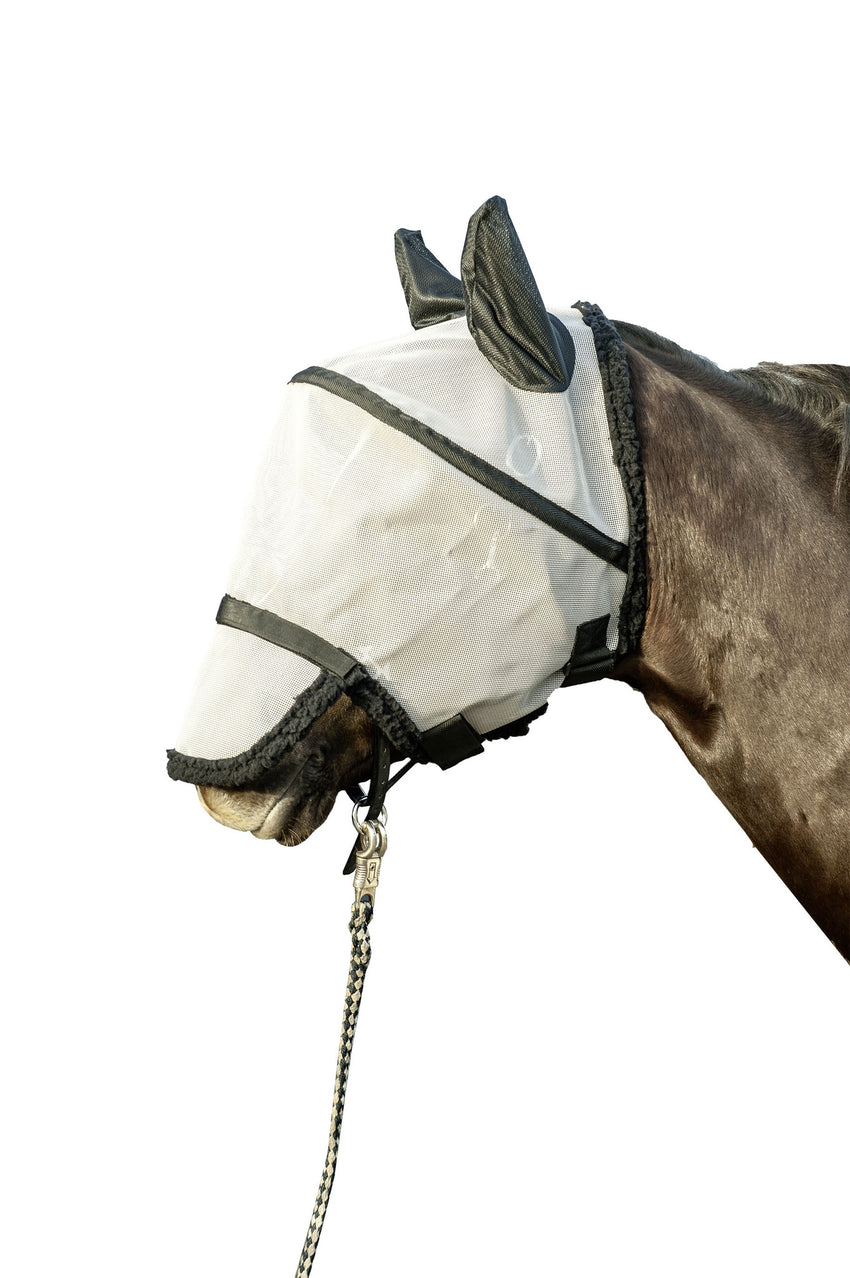 Fly Mask with Nostril Protection & Velcro