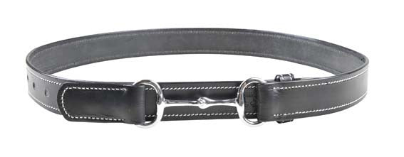 Leather Belt with Ornamental Seam