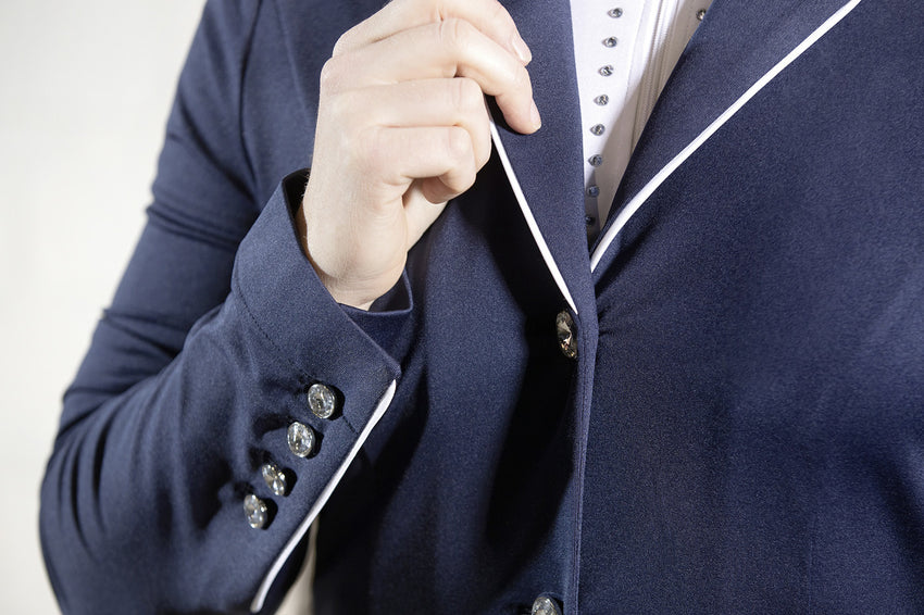 Navy and white show jacket