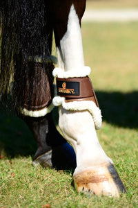 Young Horse approved sheepskin lined fetlock boots