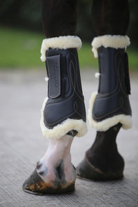 Velcro Strap Sheepskin Tendon Boots