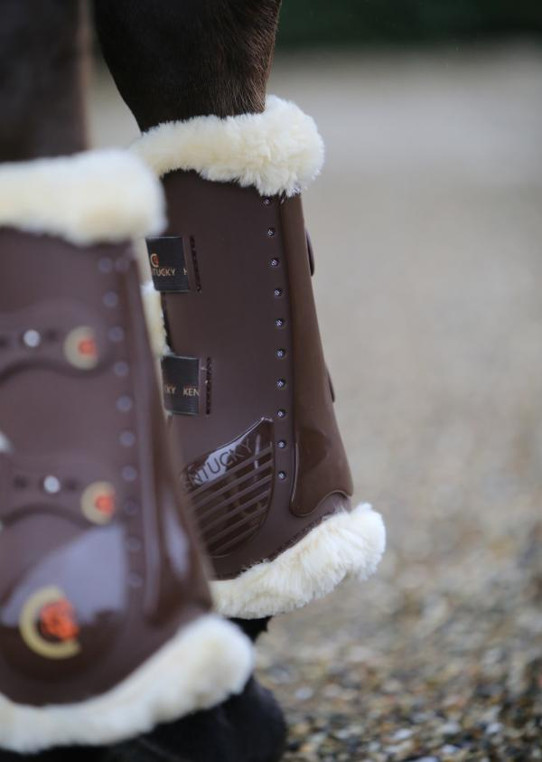 Sheepskin tendon Boots brown