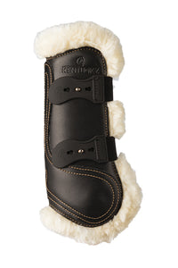 Leather Sheepskin Tendon Boots