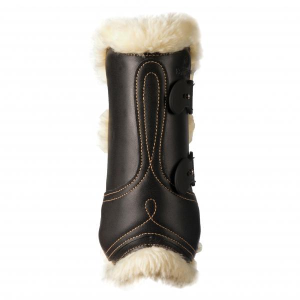 Sheepskin lined leather jumping boots