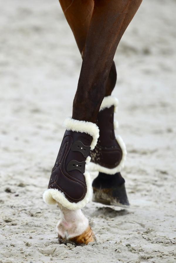 Kentucky Leather Tendon Boots with sheepskin