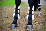 Leather sheepskin lined tendon boots