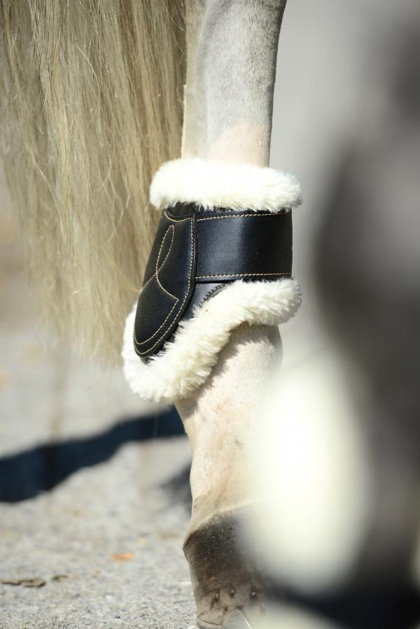 FEI Approved Young Horse sheepskin lined fetlock boots