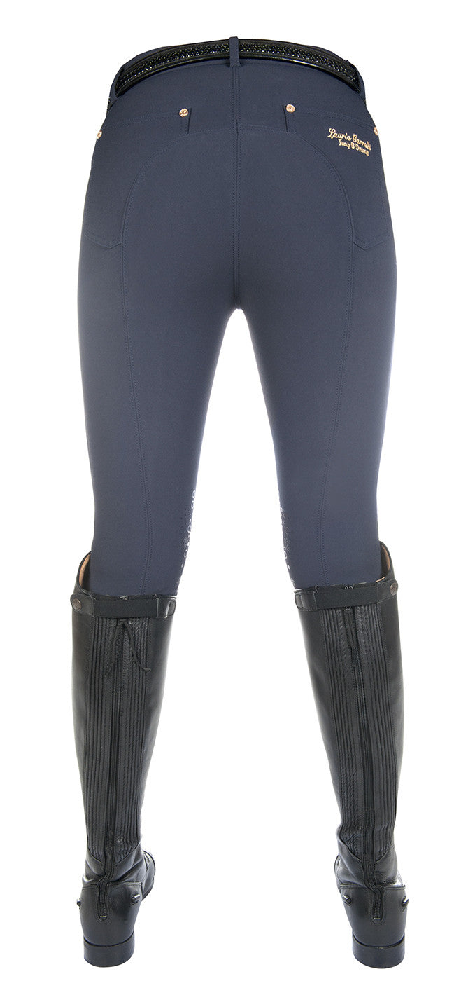 Breeches with knee grip
