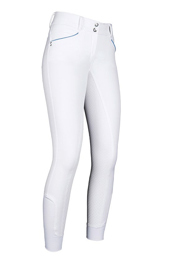 White Silicone Seat Show Breeches