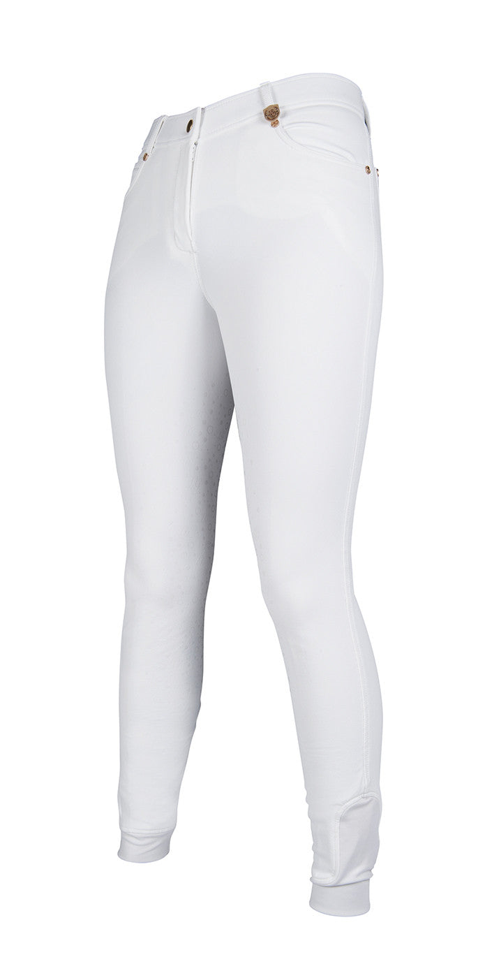 White breeches with silicone seat