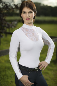 Long Sleeve Lace Show Shirt