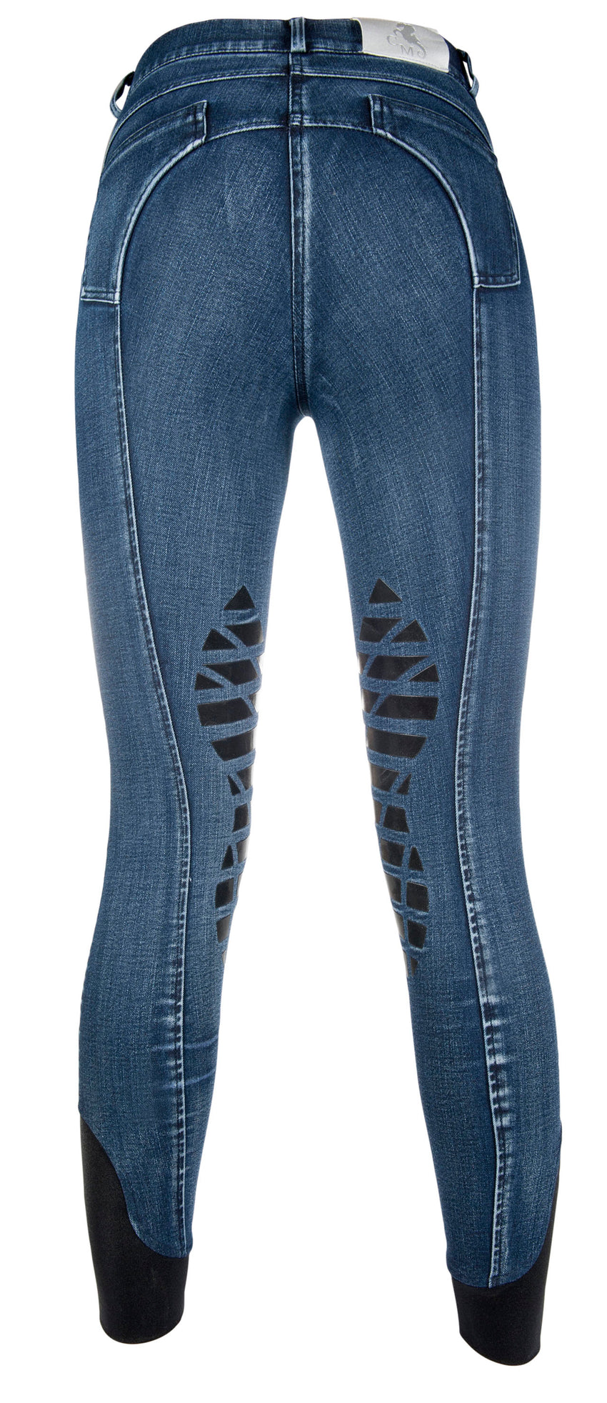 Denim Breeches with silicone knee patch