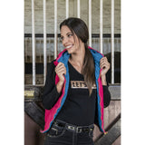 Ladies Reversible Vest with Hood