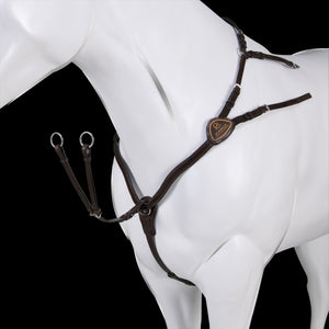 Acavallo Calfskin Leather 5 Point Attachment Breastplate