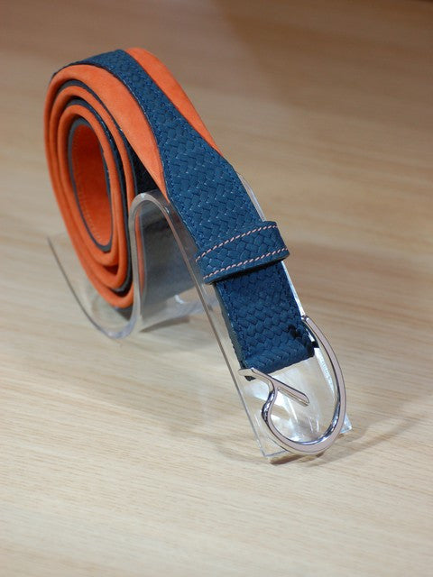 Navy and Orange Riding Belt